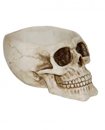 Totenkopf Schale mit offenem Schädel