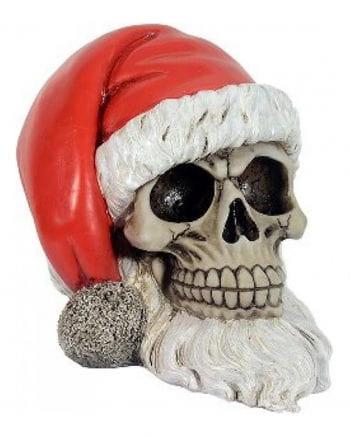 Totenschädel - Weihnachtsmann mit Bart