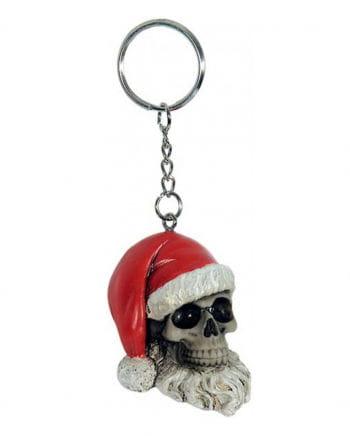 Schlüsselanhänger Totenkopf Weihnachtsmann