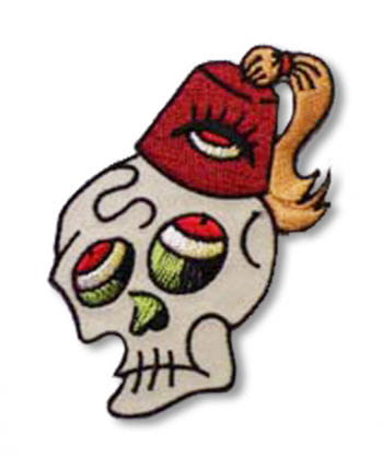 Skull Patch Skull Fezzy left