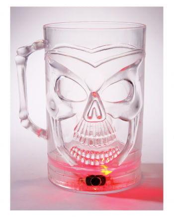 Bierkrug Skull mit LED Farbwechsler