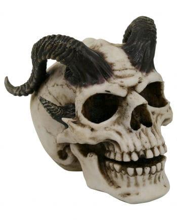 Satansschädel mit Hörnern