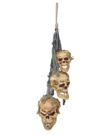 3-headed Skull Wind Chimes