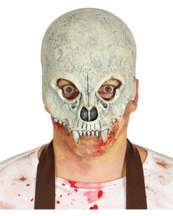 Totenkopf Halbmaske für Fasching