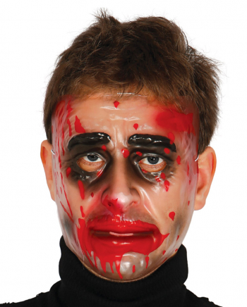 Durchsichtige Männer Maske mit Blut