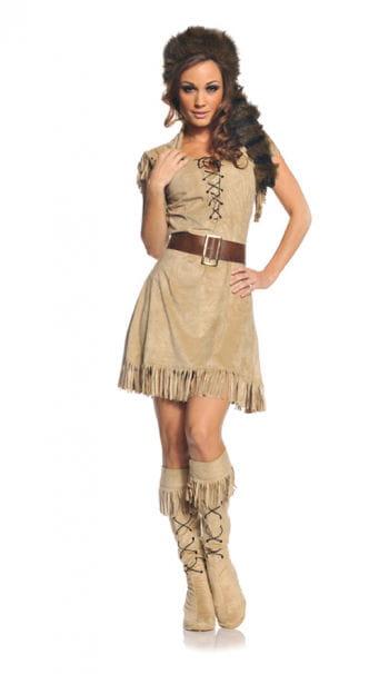 Trapperin Frauen Kostüm XL