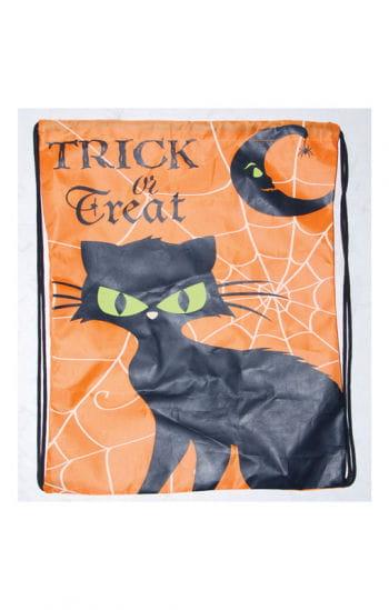 Trick or Treat Beutel mit schwarzer Katze