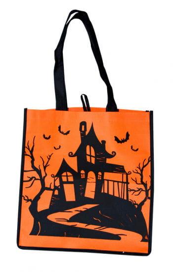 Halloween Stofftasche  mit Hexenhäuschen