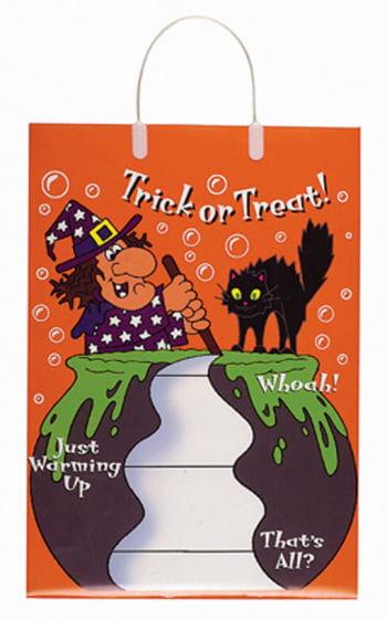 Trick or Treat Tasche Hexe und Katze