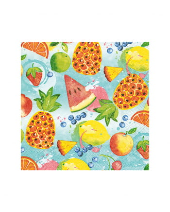 Tropical Fruits Napkins 20 Pieces