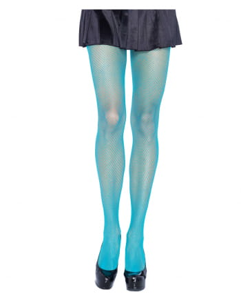 Neon Turquoise 80s Fishnet Tights