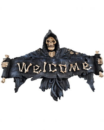 Gothic Door Sign Welcome