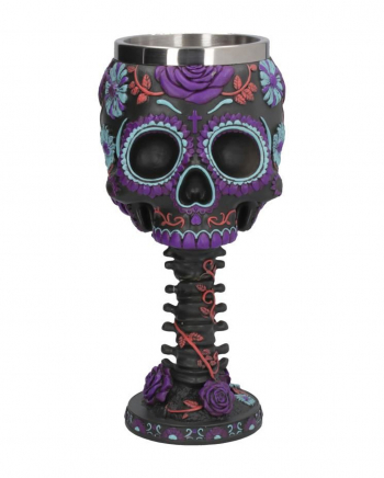 Twilight Skull Calyx With Blossoms Ornament