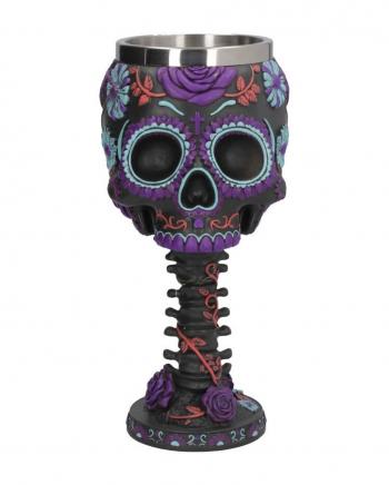 Twilight Skull Kelch mit Blütenmuster