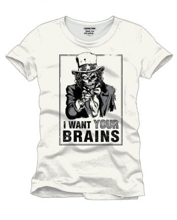 Uncle Sam T-Shirt I Want Your Brains