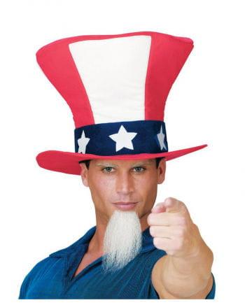 Uncle Sam Zylinderhut mit Spitzbart