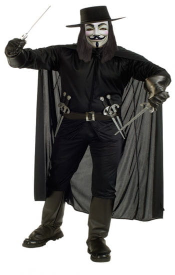 V for Vendetta Deluxe Costume XL