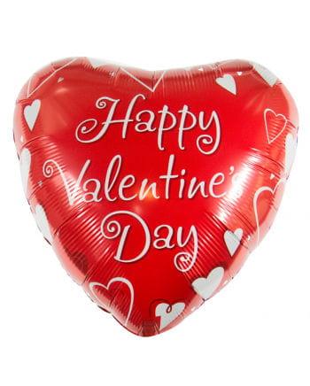 Happy Valentine`s Day heart foil balloon