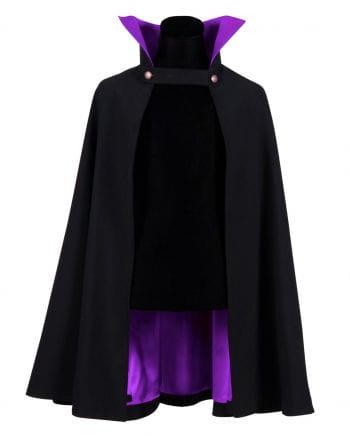 Schwarz-violettes Dracula Cape Deluxe