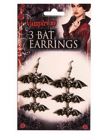 Vampir Fledermaus Ohrringe