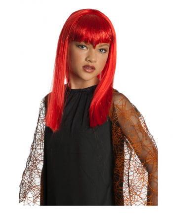 Vampire Glitter Children Wig red