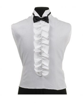 Frilled shirt-use with fly