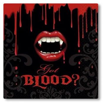 Vampir Servietten 16 Stück