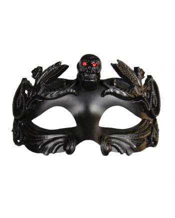 Eye Mask with Skull & rhinestones black