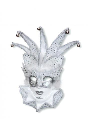 Venetian jester mask white