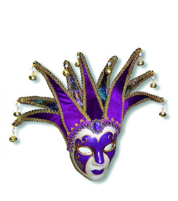 Venezianische Jolly Maske lila