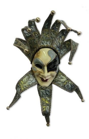 Venezianische Joker Maske grün/gold