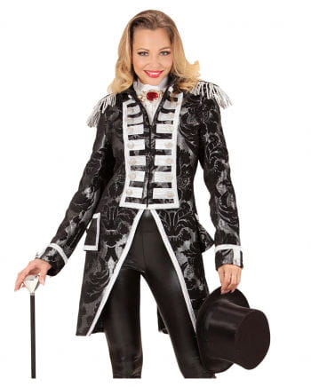 Venetian ladies tailcoat silver-black