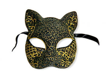 Venetian Cat Mask gold
