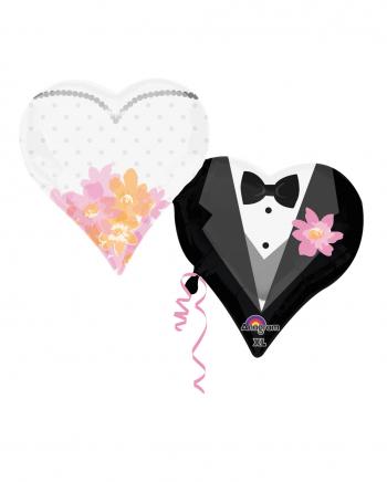 Braut & Bräutigam Herzballons