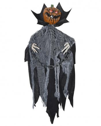 Rotted Pumpkin Hanging Figure - Animatronic