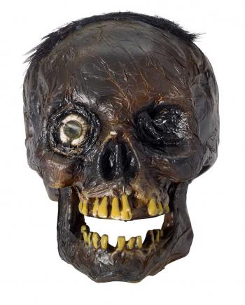 Verrotteter Totenschädel mit LED Auge