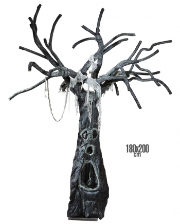 Verwunschener Halloweenbaum 180 x 200 cm