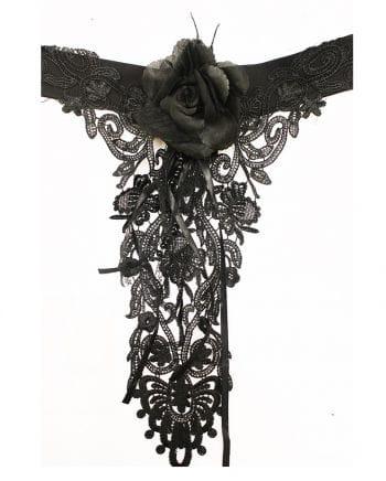 Gothic Halsband mit Rose