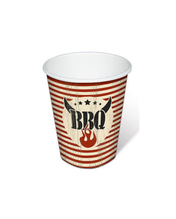Barbecue Grill Party Paper Cup 10 Pieces