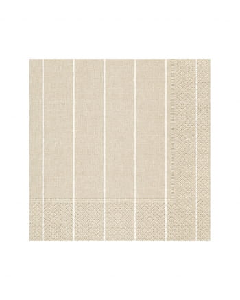 Pinstripe Napkins Beige 20 Pieces