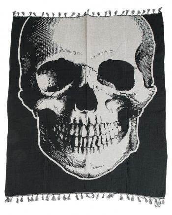 Vintage Skull Halloween Bedspread