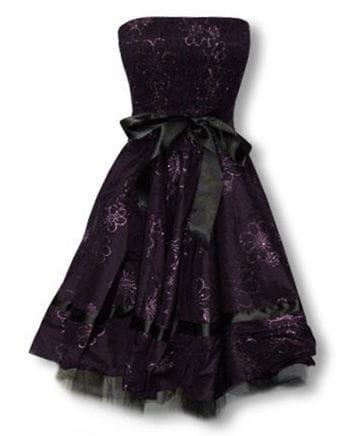 purple evening dress with flower print XXL