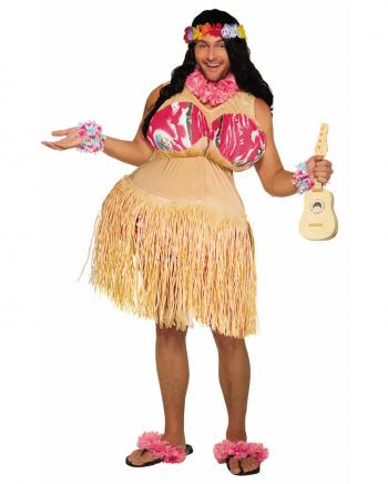 Full-breasted Hula Dancer Men Costume