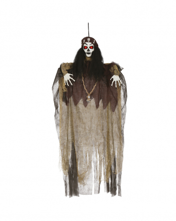 Voodoo Zauberin Hängefigur mit LED Augen