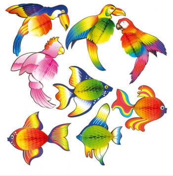 Waben-Fisch rot/orange