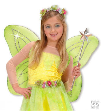 Wood Fairy Wings for Kids Green
