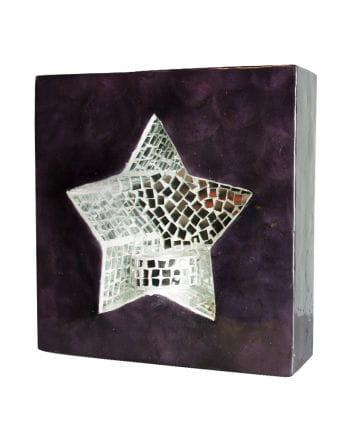 Wall Light Mosaic Star Violet / Gray