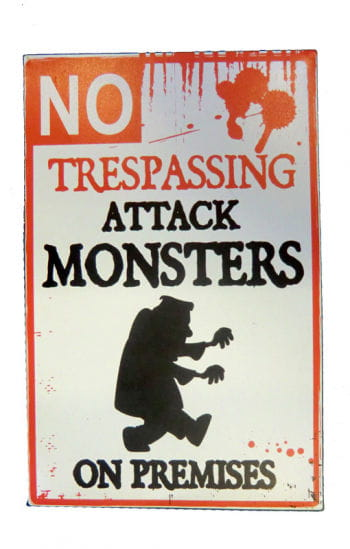 Warning Sign Attackierendes Monster