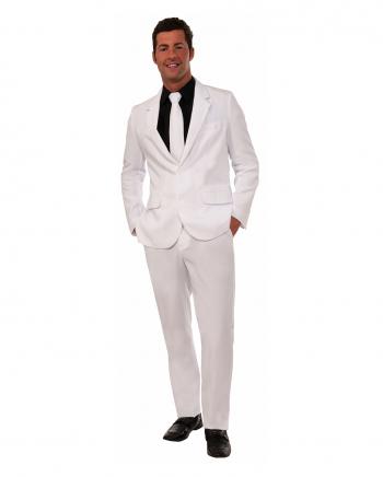 Party Anzug für Herren Weiß mit Krawatte