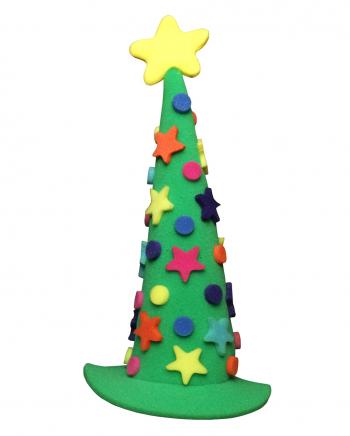 Schaumstoff Weihnachtsbaum Hut